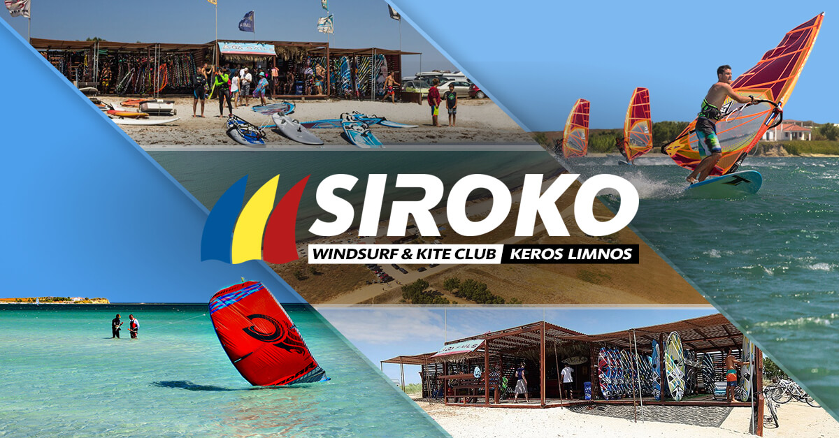 Siroko Wind Club | Windsurf and Kite station at Keros beach on the magical Limnos island in Greece.