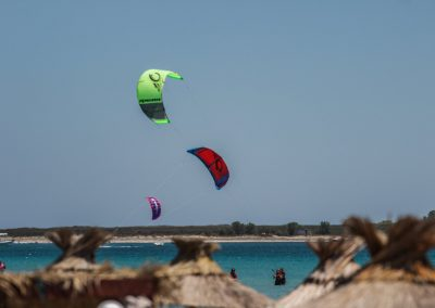 The view of the kite beginner area from Siroko Wind Club