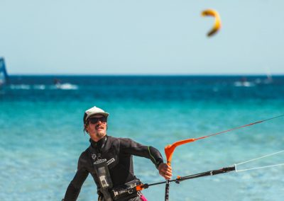 IKO instructor launching the kite at the begginers area