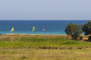 Windsurf beginners in Keros beach