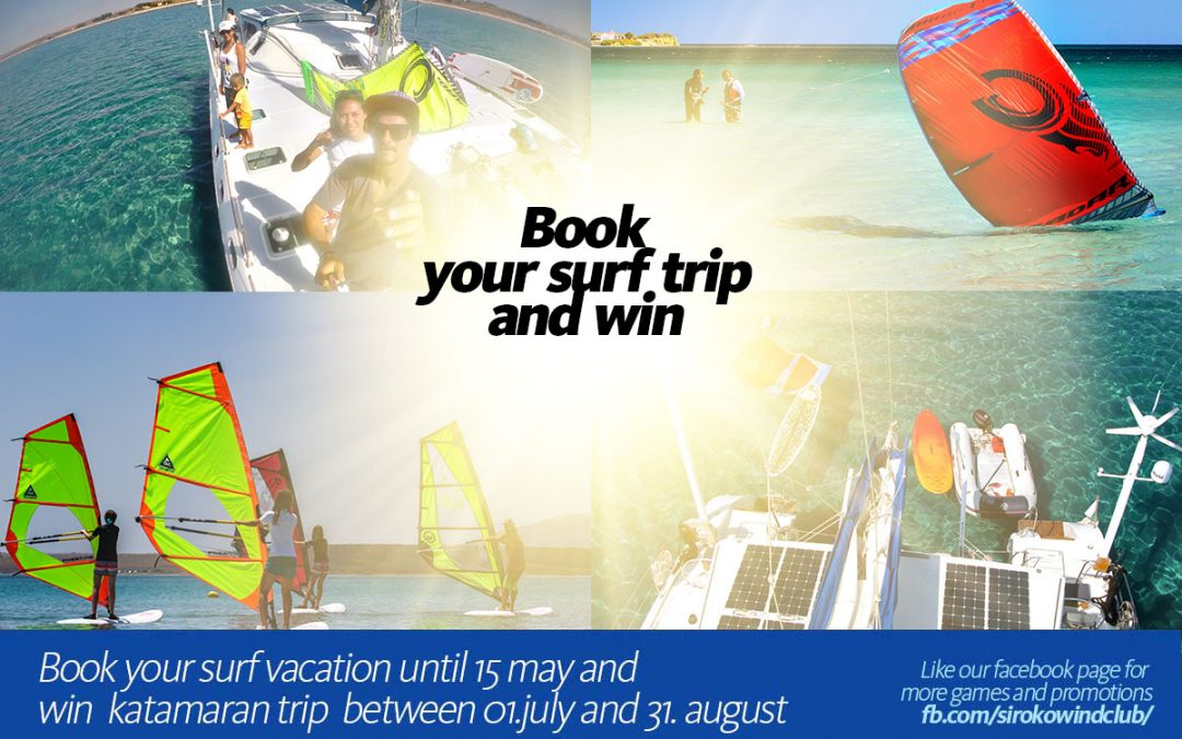 Book  your  surf  trip and  win!
